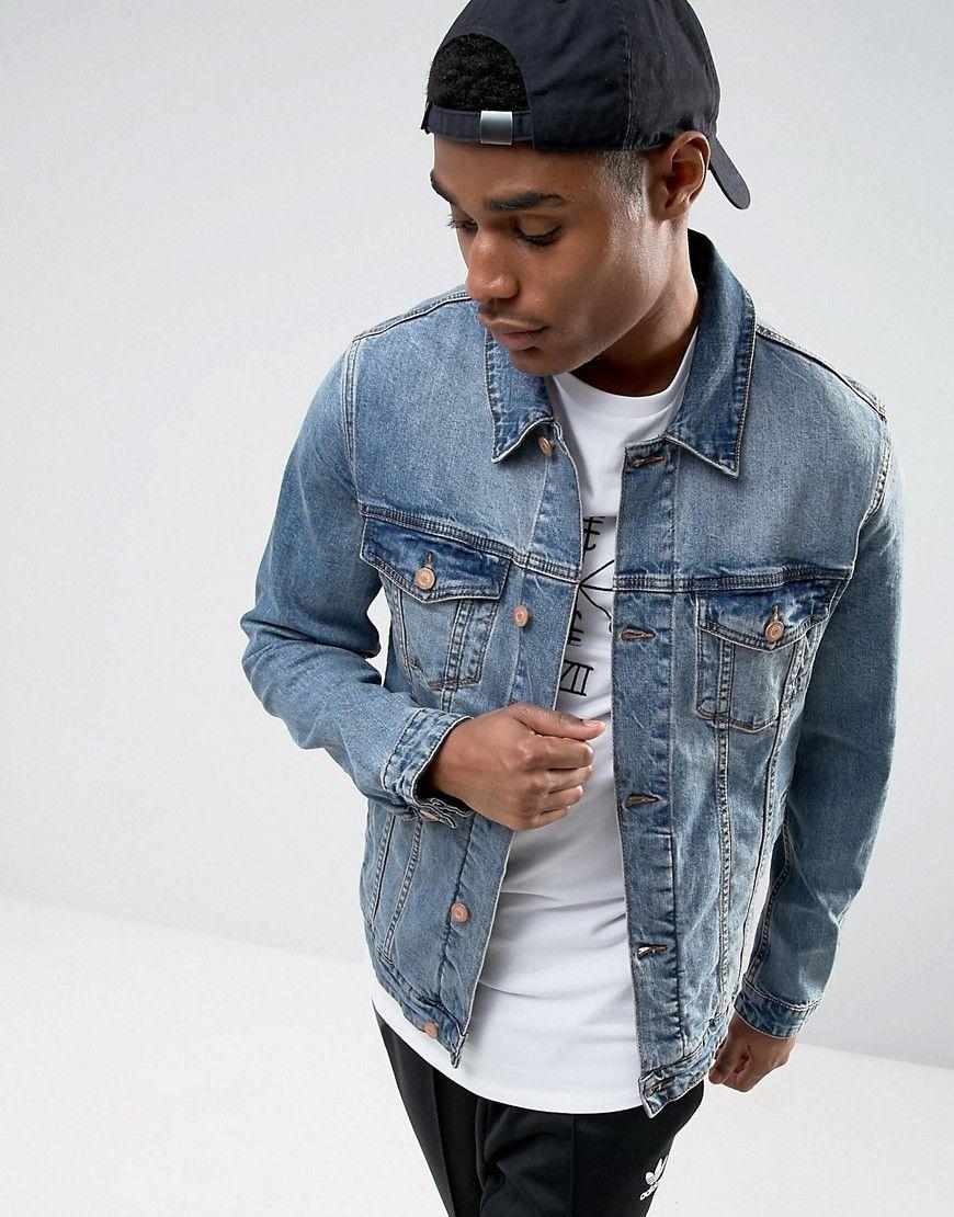 Get This Asos S Denim Jacket Now Click For More Details Worldwide Shipping Asos Skinny Denim Jacket Jackets Men Fashion Mens Fashion Edgy Leather Jacket Men [ 1110 x 870 Pixel ]