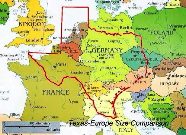 Map Of Texas Vs Europe.Texas In Proportion To Europe Texas Size Of Texas Texas Pride