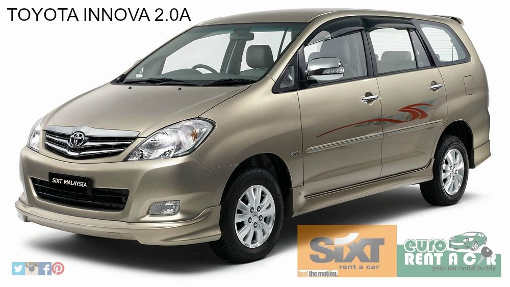 Toyota Innova 2 0a Promotion Price For Daily Rm283 02 Luggage