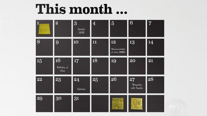 Kontor, inspiration, wallsticker kalender http://mindfulstyling.dk/indretning-der-oger-effektiviteten-pa-arbejdspladsen/