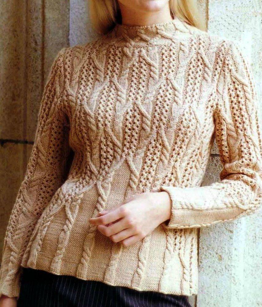 Knitting. Pullover con un dibujo en relieve hermosa. Debate sobre LiveInternet - Servicio Ruso diario en línea