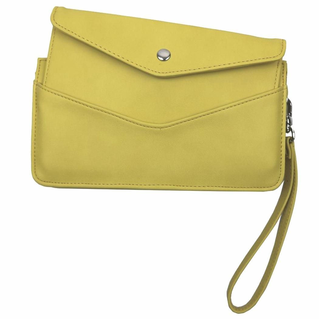 2ea093b9a5c1a £14.99 - Large yellow clutch purse by Red Cuckoo, London. Excellent quality  faux