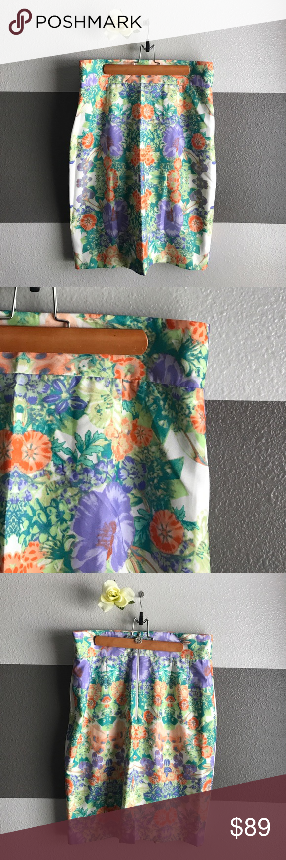 "Antonio Melani Bertie Skirt Antonio Melani | Size: 12 | ""Spring Breeze"" Design with beautiful multicolored floral print | NWT ANTONIO MELANI Skirts Midi"