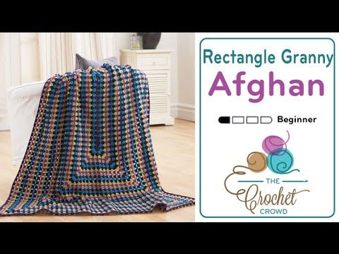 Crochet Granny Rectangle Afghan + Tutorial | Häkeln