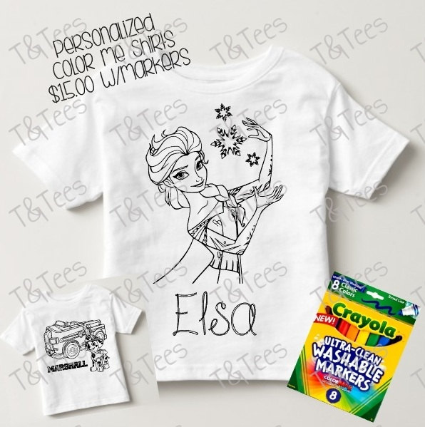 da5b6d9ec Personalized Coloring T-Shirt: We-Care.com will donate a portion of every  purchase through this link to charity!