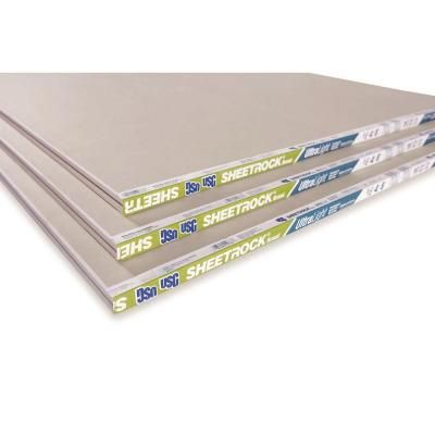 Sheetrock Ultralight 1 2 In X 4 Ft X 8 Ft Gypsum Board 14113411708 The Home Depot Gypsum Board Sheetrock Gypsum