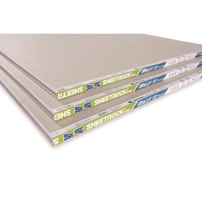 Sheetrock Ultralight 1 2 In X 4 Ft X 8 Ft Gypsum Board 14113411708 The Home Depot Gypsum Board Sheetrock Gypsum