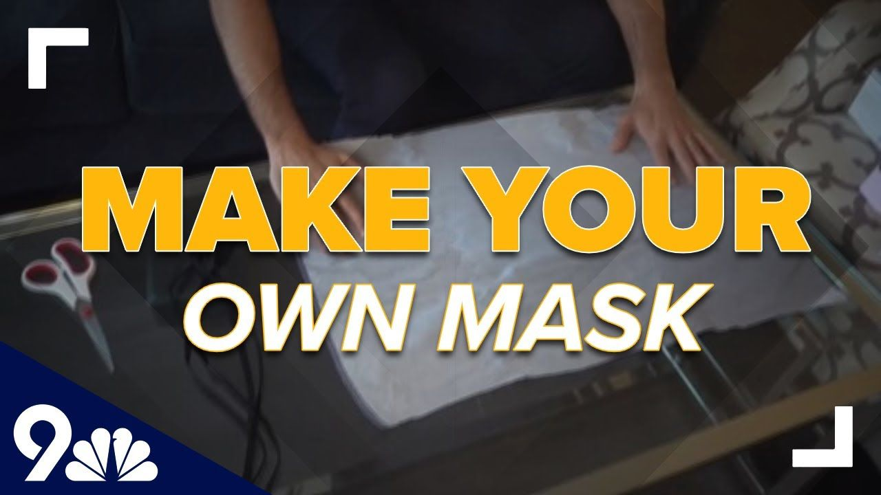 How to make a no-sew mask with an old t-shirt and shoelaces