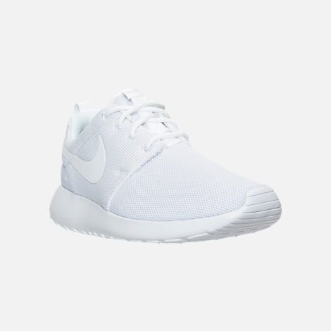 three quarter view of women's nike roshe one casual shoes