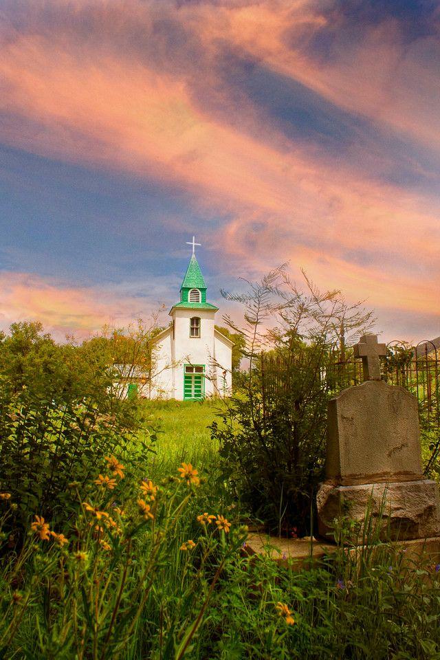 Church, San Patricio, New Mexico, USA Old country