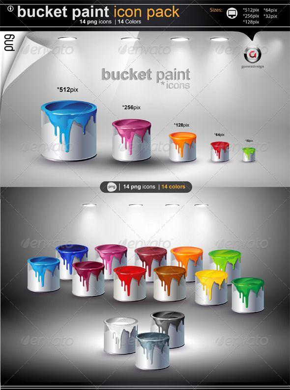 Buket Paint Icons Paint Icon Painting Icon
