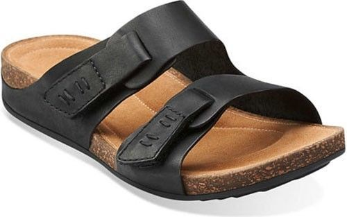 3b3c4cd4f13 Clarks Perri Island Black Women s Sandals 00645 BNIB
