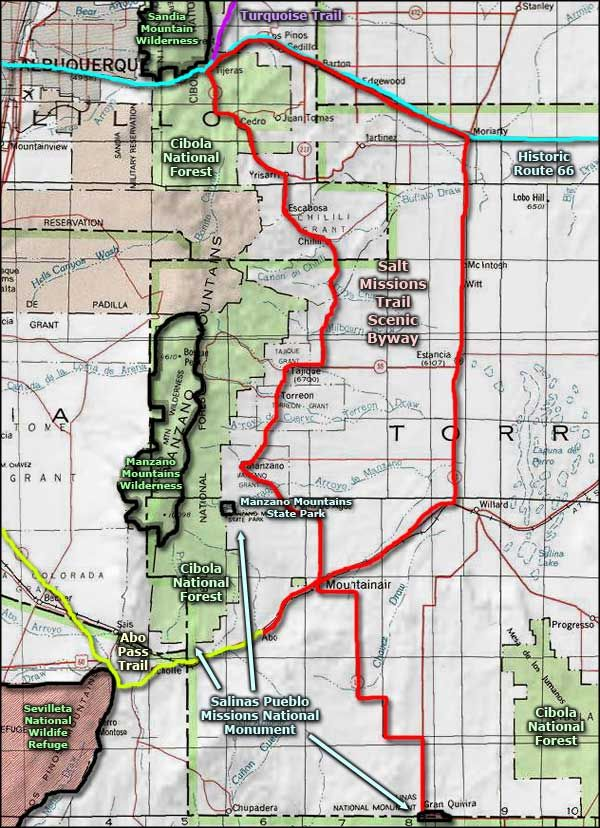 National Parks In New Mexico Map.Manzano Mountains State Park Area Map Manzano Mountains State Park