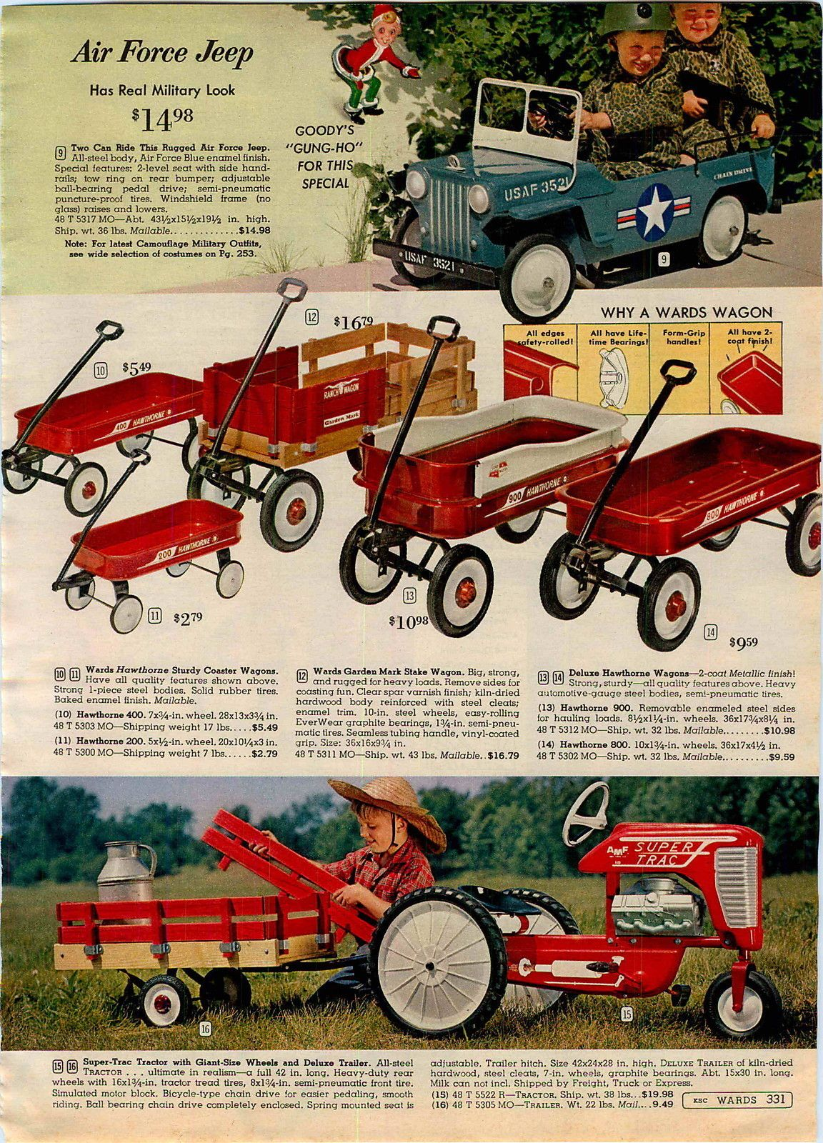 1963 AD AMF Super Trac TOY Pedal CAR Tractor Trailer AIR