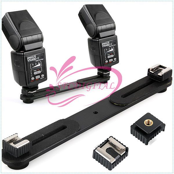 SC-6 Flash Hot Shoe Adapter for F58AM + Support flash bracket mount