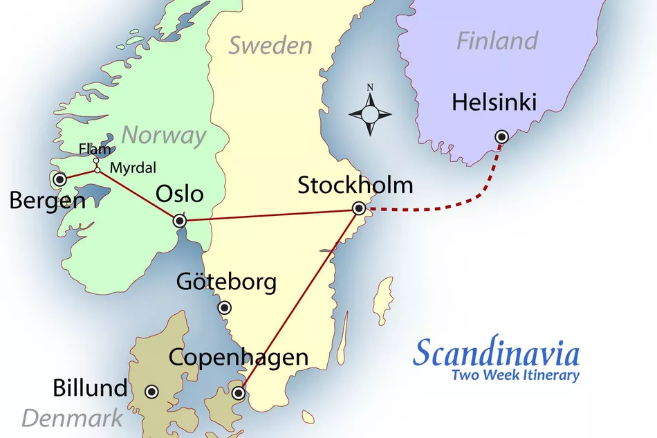 How To Spend Two Weeks Visiting The Best Of Scandinavia Sweden Travel Scandinavia Travel Norway Travel