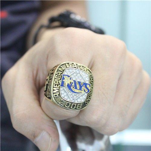 Custom 2008 Tampa Bay Rays American League Championship Ring Al Nl Championship Rings Customized Championship Rings Rings Mlb World Series