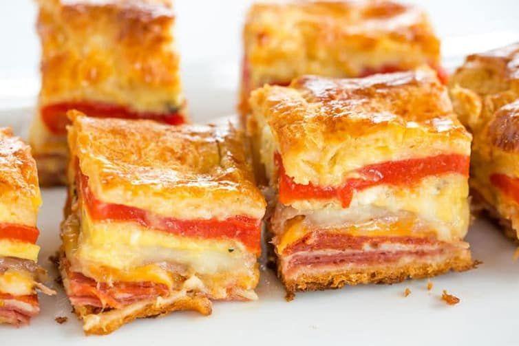Antipasto Appetizer Squares | Brown Eyed Baker