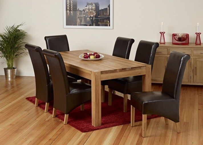 Solid Oak Dining Table And 6 Chairs Red Carpet Plant Preformance Captivating Oak Dining Room Table And 6 Chairs Decorating Design