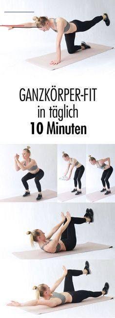 Fit mit täglich 10 Minuten Training – mit dem Schlank-Workout! Mit Sport gleich in den Tag starten -...