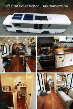 Check out this young couples impressive off grid solar school bus conversion. Have you seen a bus conversion with standing room like this one?