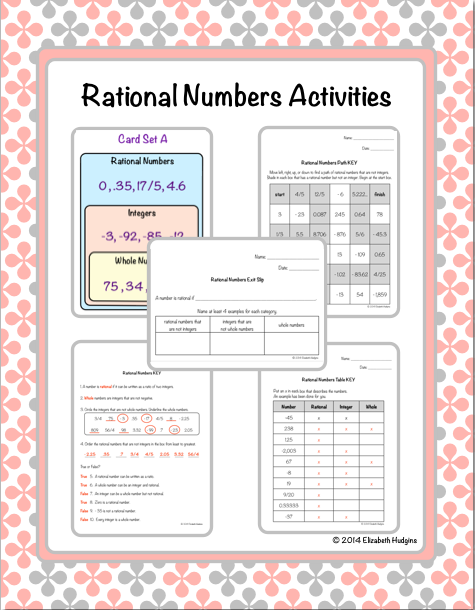 Fresh Ideas - Rational Numbers Activities Rational numbers, Number