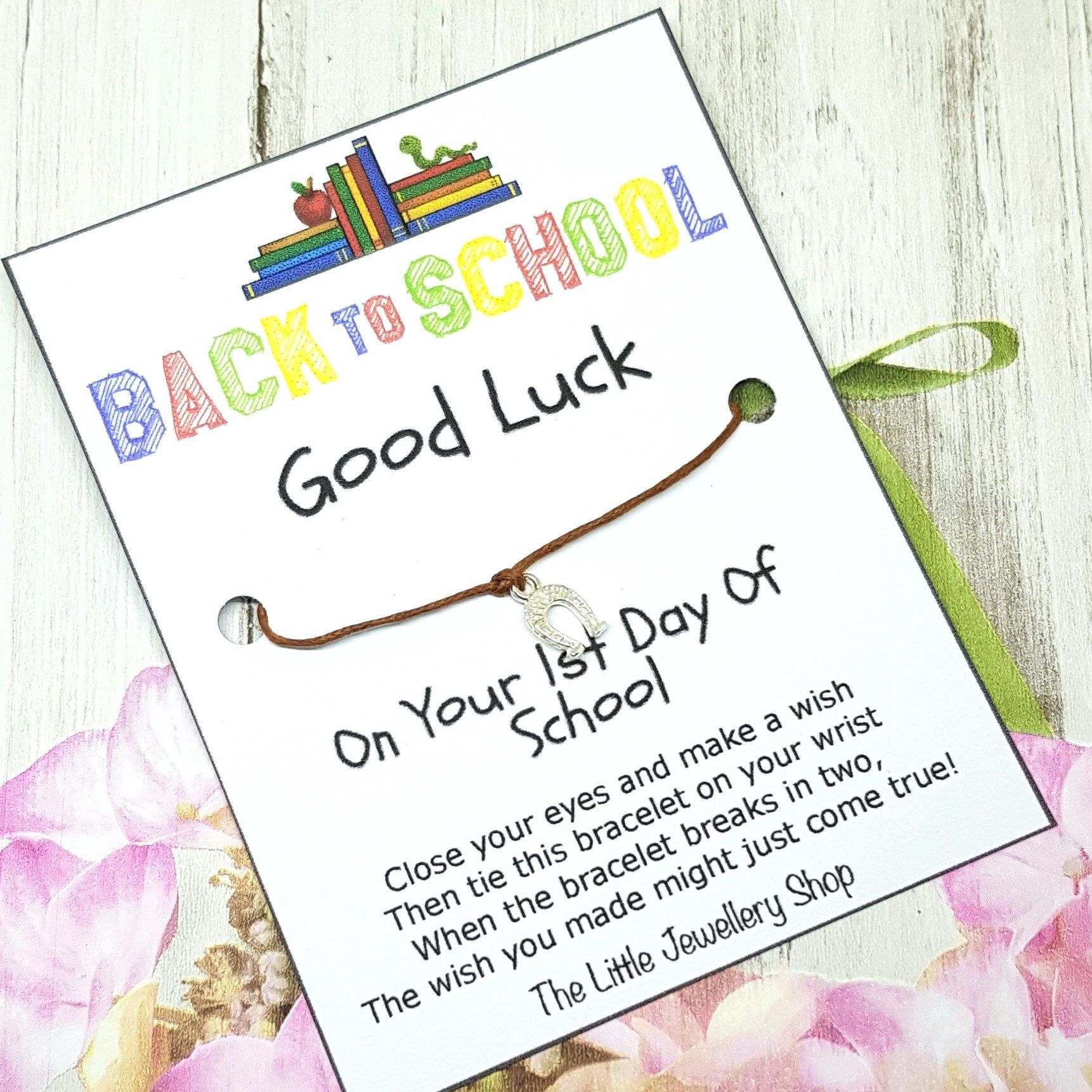 WISH BRACELET THINKING OF YOU HUG FRIEND GIFT CARD POEM VARIOUS COLOURS CHARMS