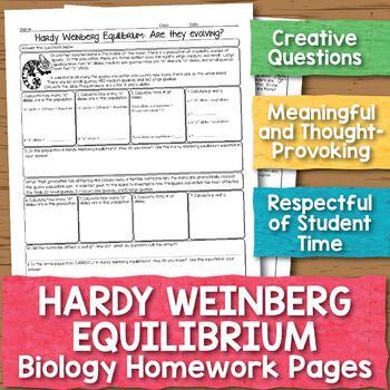 Hardy Weinberg Equilibrium Biology Homework Worksheet ...