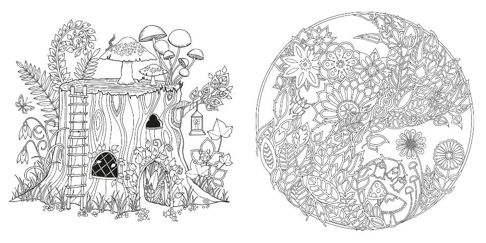 This Stunning New Colouring Book By Johanna Basford Takes Readers On A Inky Quest Through An Enchanted Forest To Discover What Lies In The Castle At