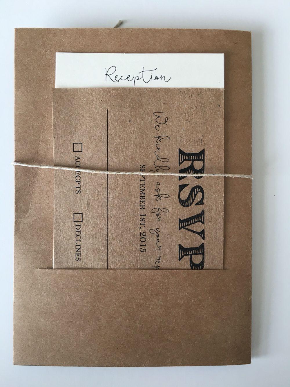 Barn Door Die Cut Wedding Invitation Back Slit Pocket With Rsvp Reception Card: Wedding Invitations Barn Door At Websimilar.org