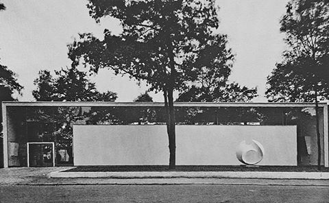 Pavilion of the City of Berlin at Constructa 1951 in Hannover, Germany...1950-51 by Hans & Wassili Luckhardt...