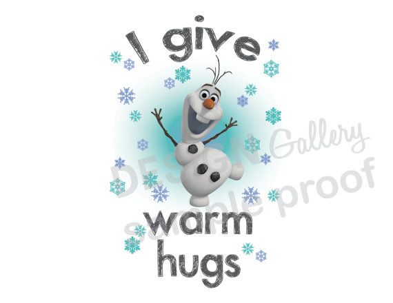 Size S Womens Frozen T Shirt Olaf Snowman I give warm hugs M