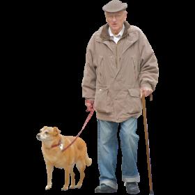 Man And Dog Png Image Old Man Walking Render People People Png
