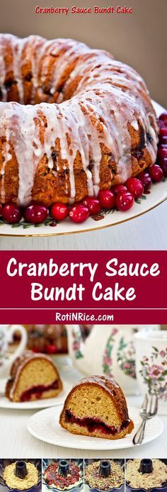Not sure what to do with leftover cranberry sauce? Use it to make this easy, moist, and delicious Cranberry Sauce Bundt Cake.   Food to gladden the heart at RotiNRice.com