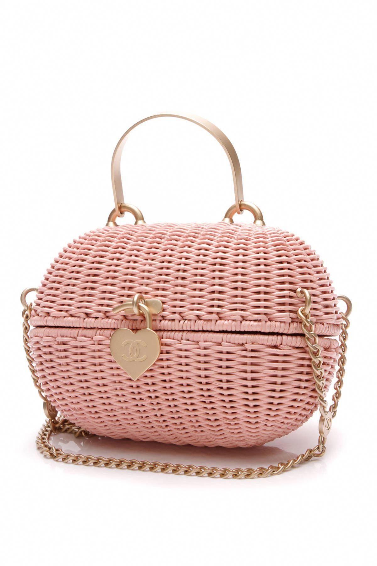 04ddd3e5c4ef Chanel Heart Closure Basket Bag - Pink   36441 #Chanelhandbags ...