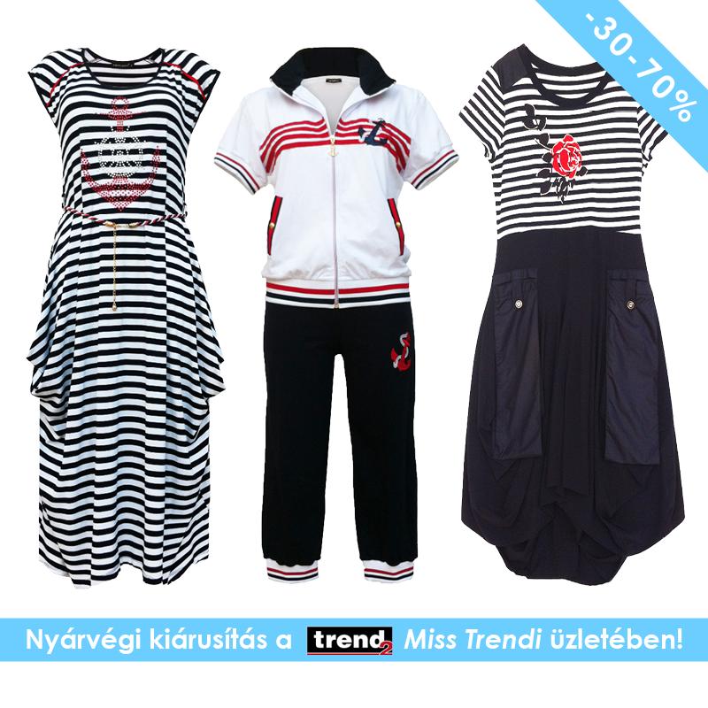 130be8caa2 Nyárvégi kiárusítás a Trend2 Miss Trendi üzletében! Akciós nyári ruhák,  nadrágok és pólók extra