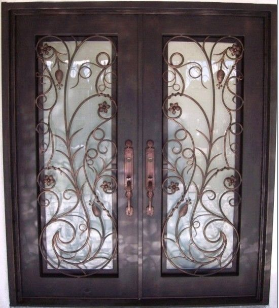 Hand Crafted 12 Gauge Wrought Iron Doors By Monarch Custom Doors 72 X 96 Ebay Iron Doors Wrought Iron Doors Iron Entry Doors