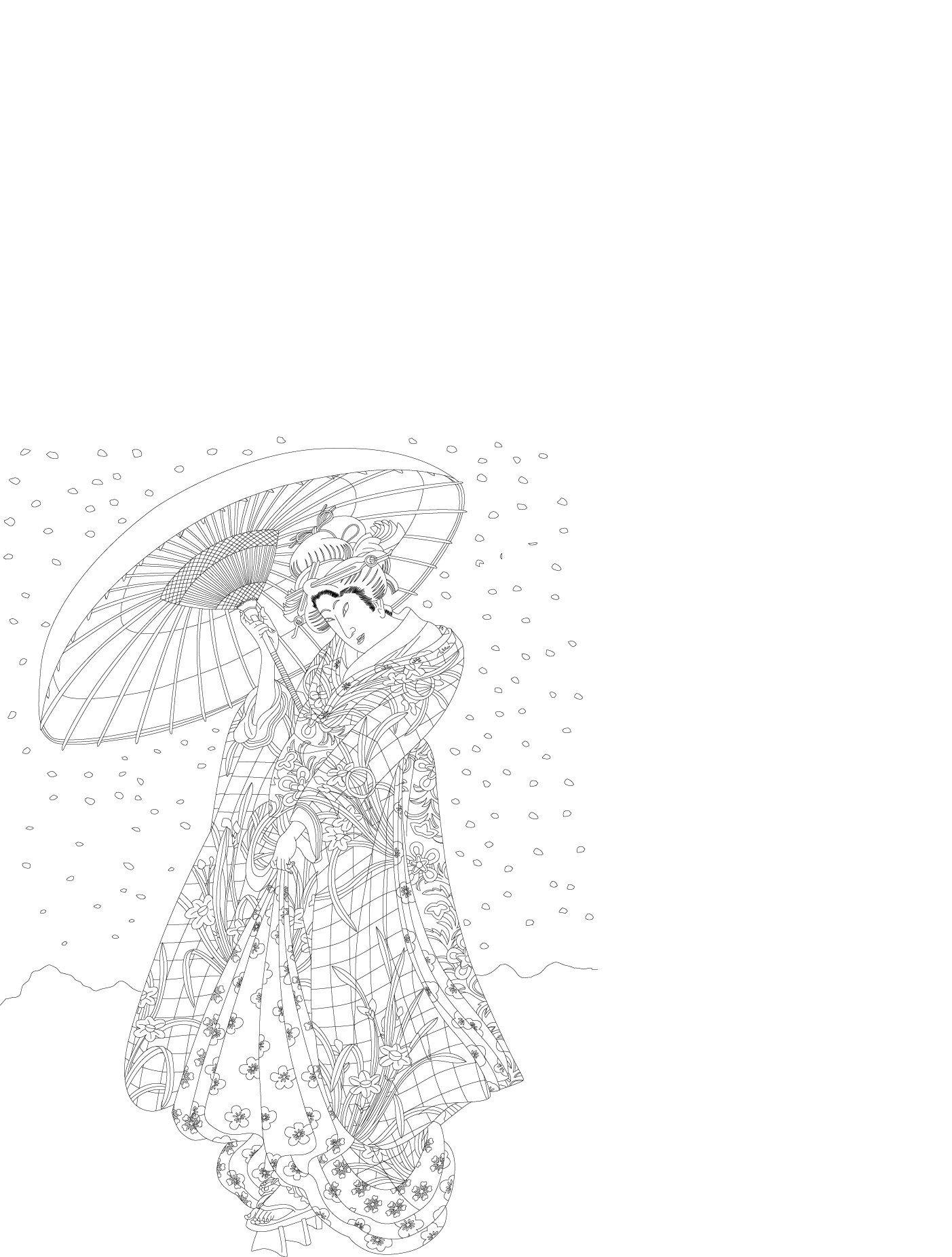 Kimono Artistscolouring Book Pepin Van Roojen Books