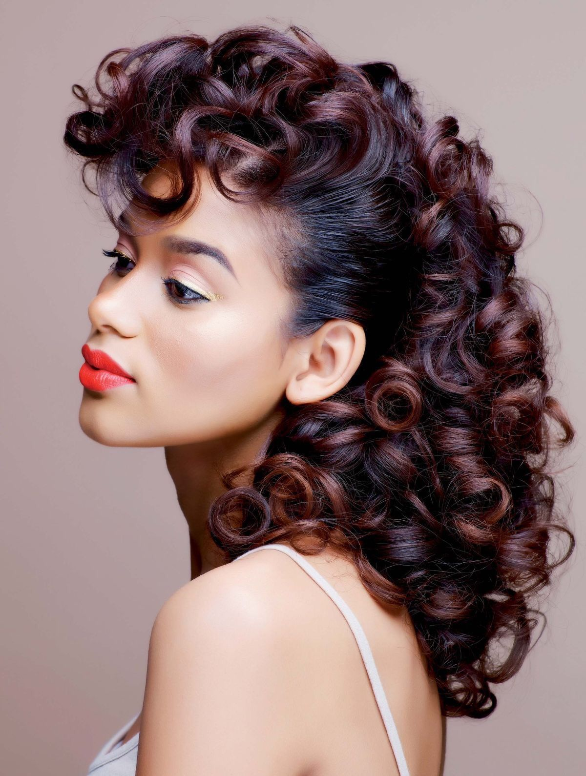 roller hairstyles finished relaxed rollers rods curly