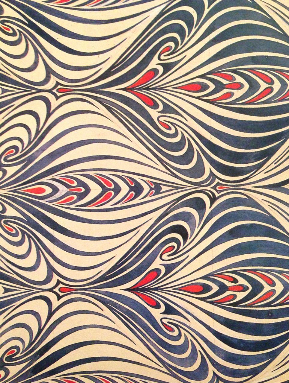 Patterntheory from a book on art nouveau prints for Art nouveau wallpaper uk