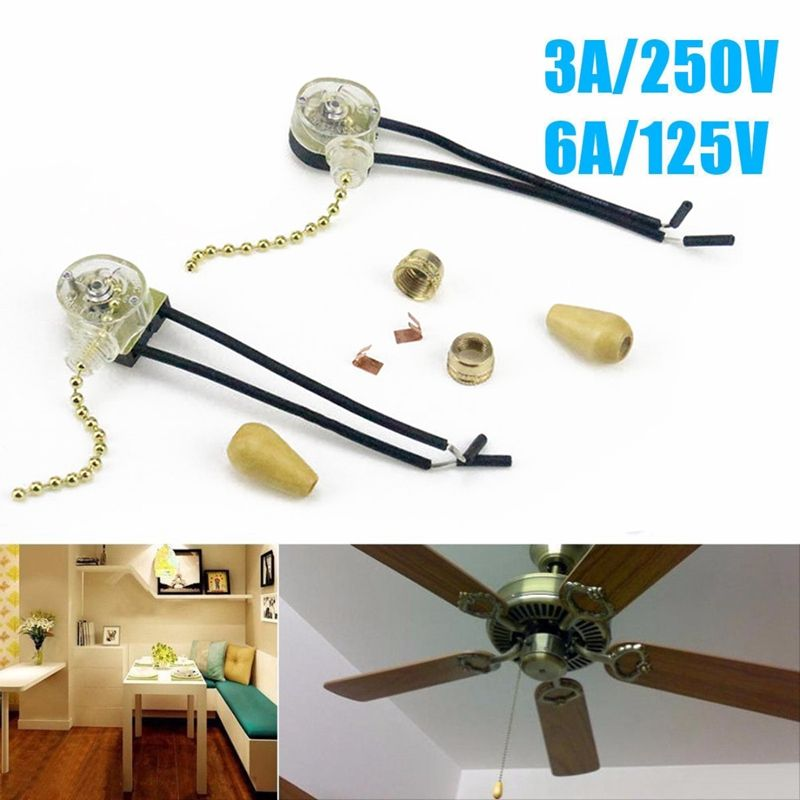 Universal Ceiling Fan Pull Chain Switch Wall Lamp Light Replacement Pull Chain Cord Switch Button 3a 25 Ceiling Fan Pull Chain Fan Pull Chain Ceiling Fan Pulls