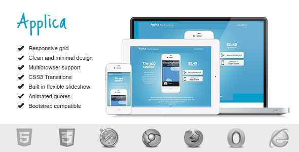 Applica Responsive Mobile Software Landing Page - ThemeForest Item