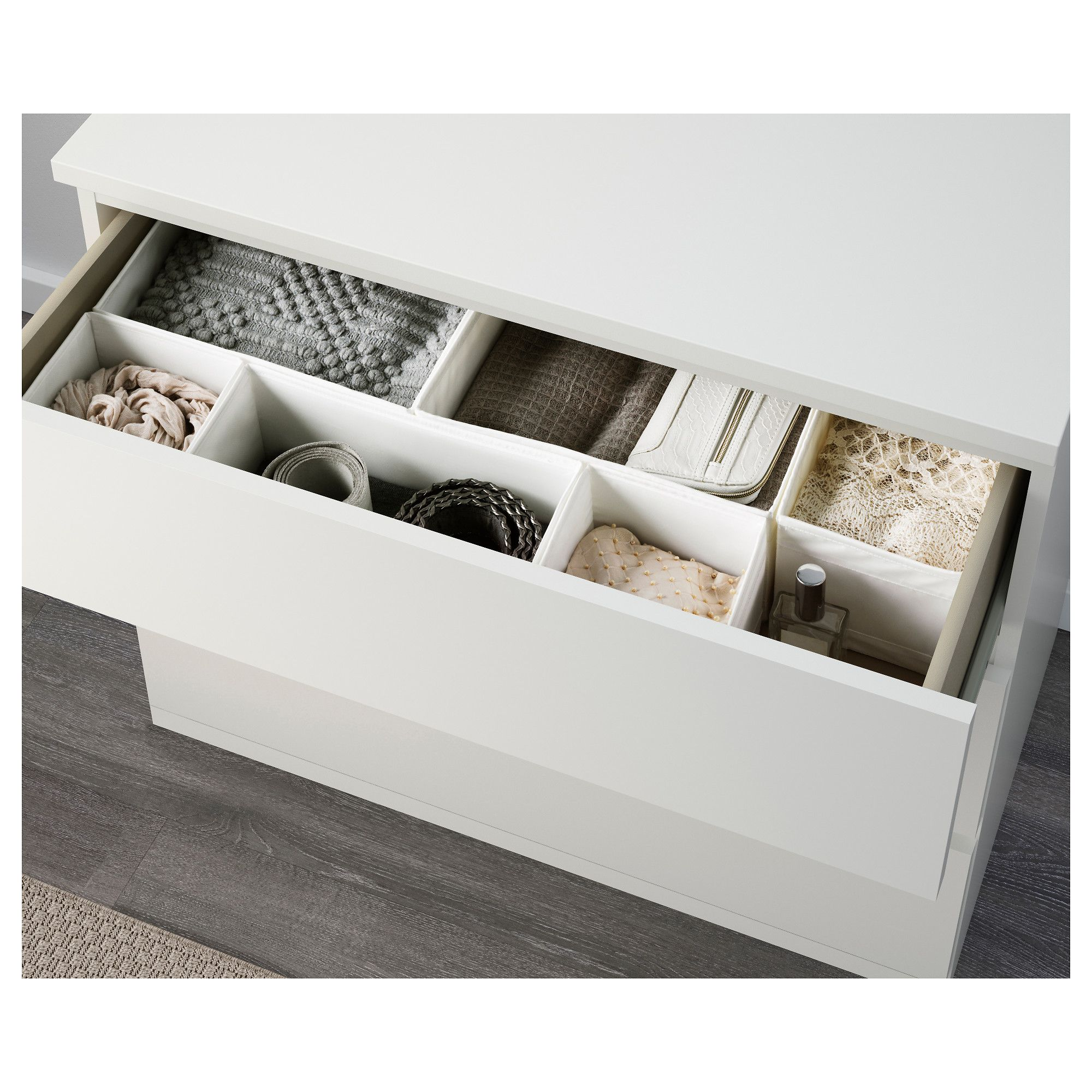 Malm Ladekast Ikea 3 Laden.Ikea Malm 3 Drawer Chest White Closet Organization Malm