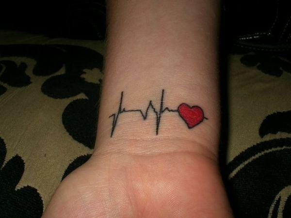 herz tattoo puls tattoos pinterest herz tattoo und. Black Bedroom Furniture Sets. Home Design Ideas