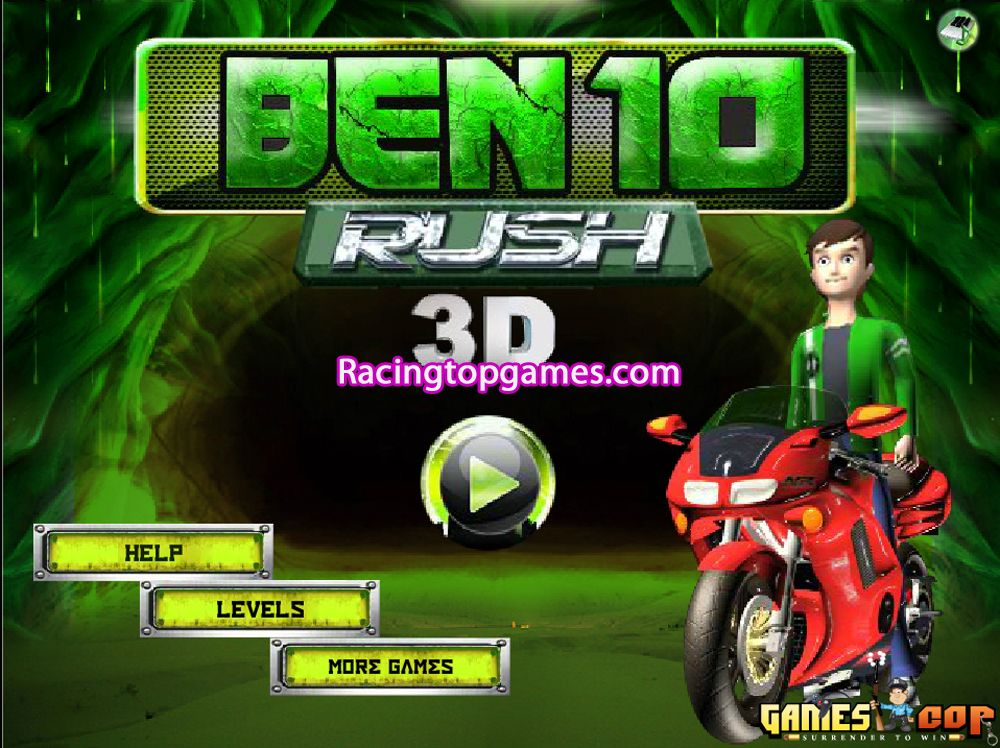 Welcome To Ben 10 Rush 3d Racing Game This Is A Amazing