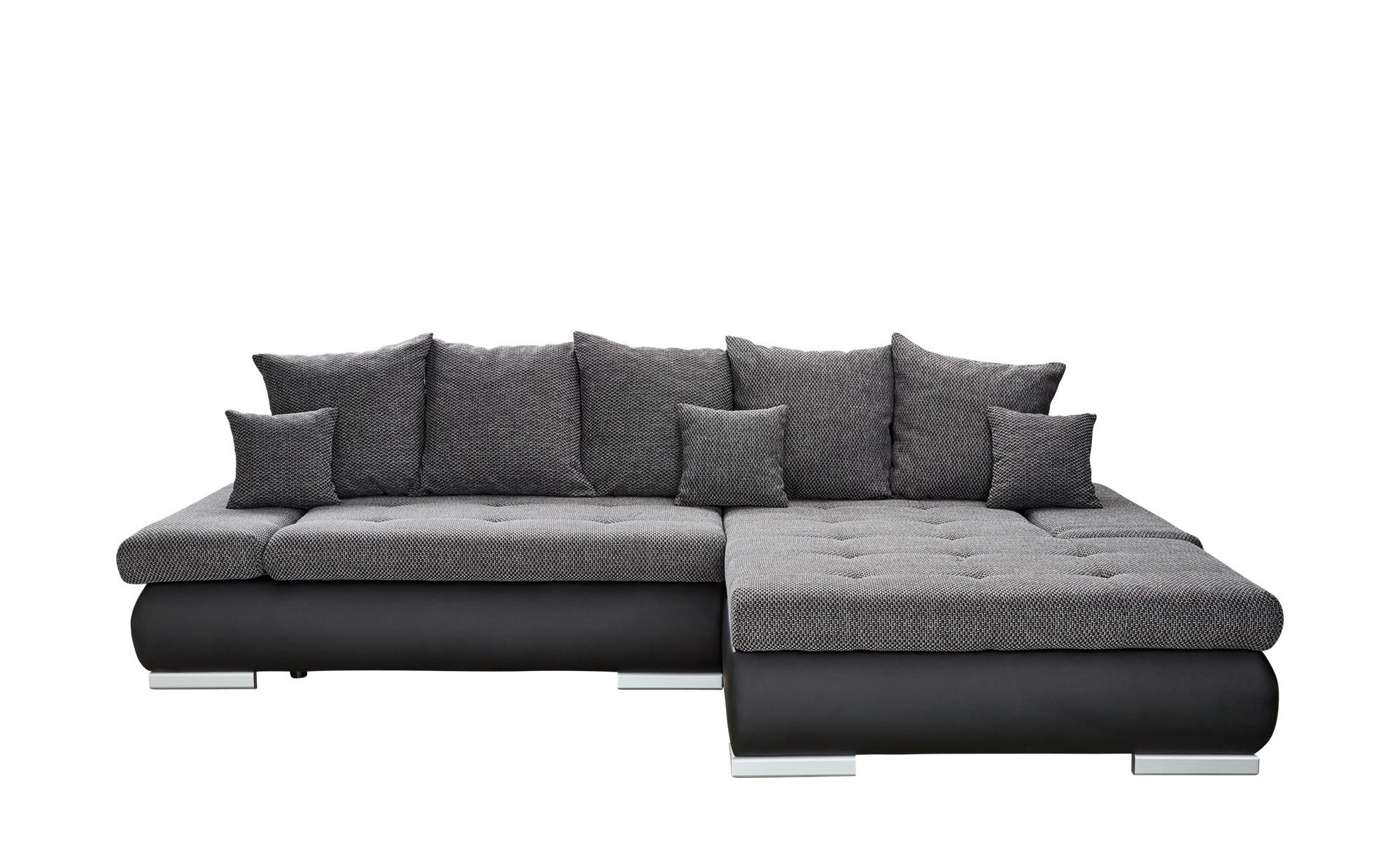 Switch Eckcouch Mit Schlaffunktion Schwarz Grau Kunstleder Webstoff Ivan In 2020 Eckcouch Gunstige Sofas Und Couch