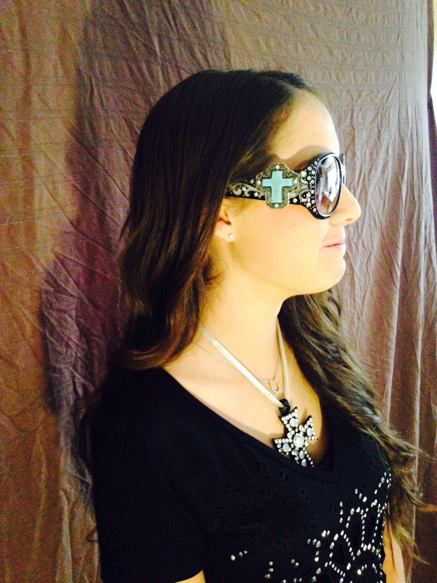 Cowgirl bling cross glasses @ martinwear.net