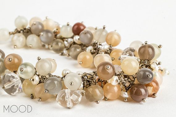 CITRIS MOON  Multi Colored Moonstone gemstone by MoodJewelry, $110.00