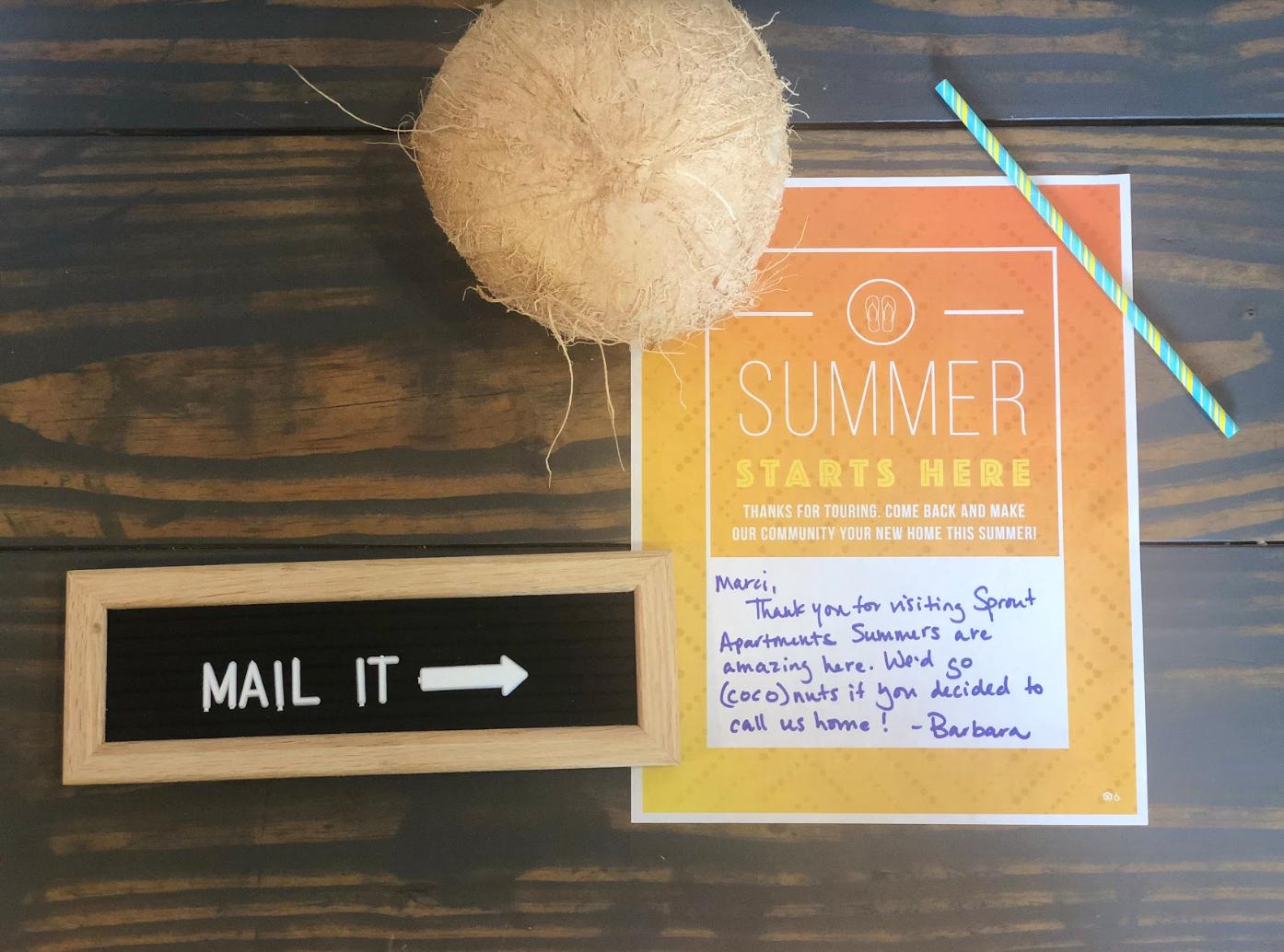 Creative Direct Mail Apartment Marketing