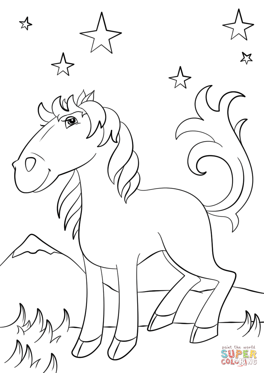 Mustang Horse Coloring Pages In 2020 Horse Coloring Pages Coloring Pages Horse Coloring